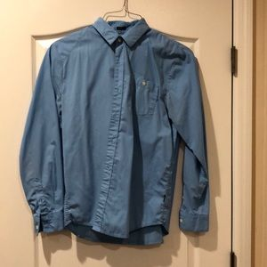 Blue Volcom Button Up